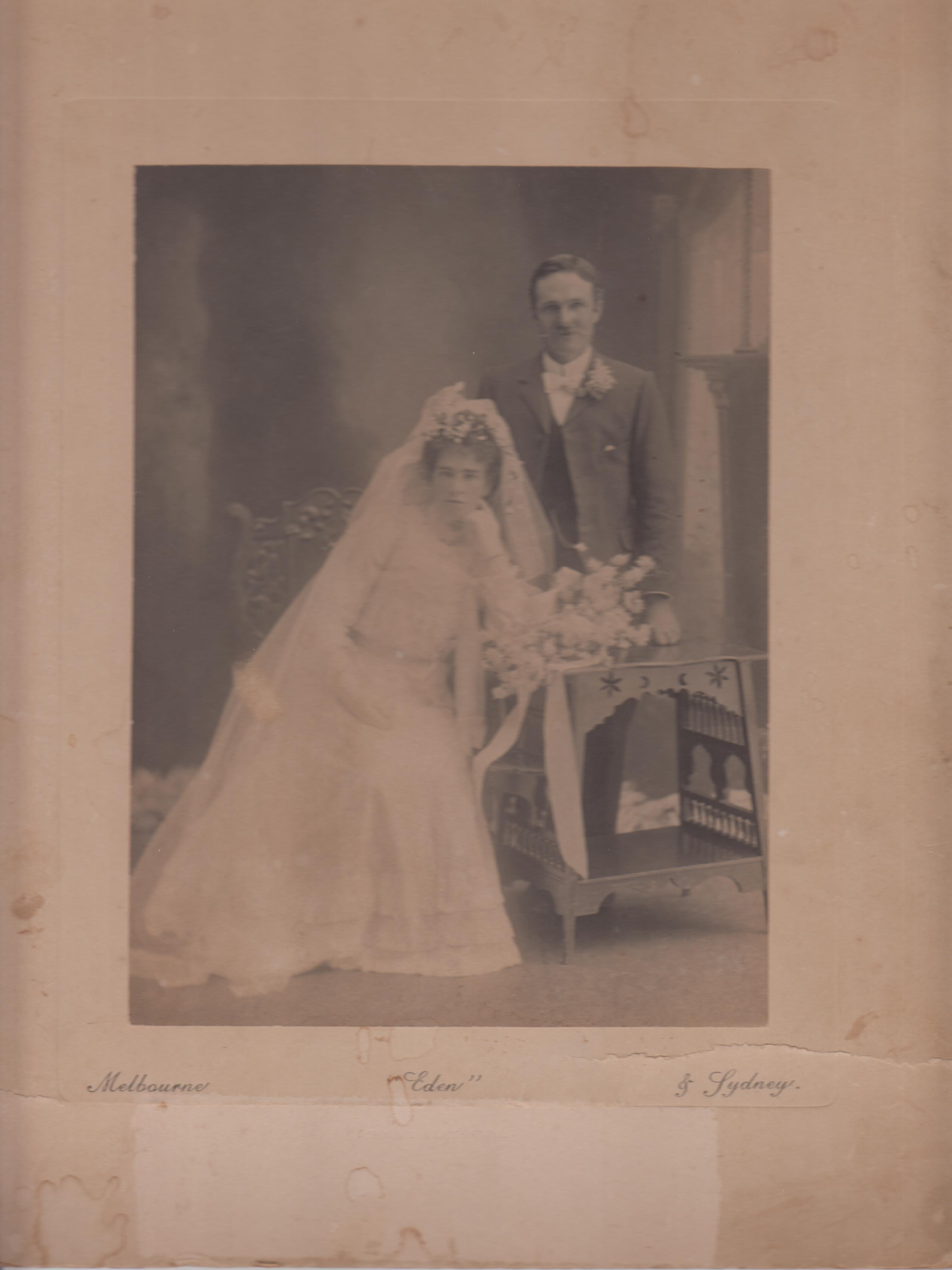 Tom Missen and Sarah Missen (nee Harrison)