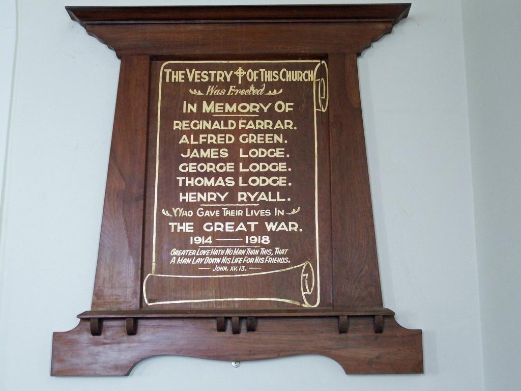 WW1 Honor Board in the Christ Church - Little River.jpg