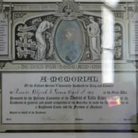 Pte Alfred E Green Memorial Certificate - Christ Church - Little River.jpg